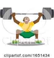 Black Man Doing Snatch With Weights