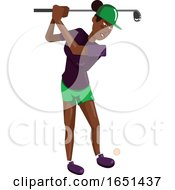 Black Woman With A Golf Club by Morphart Creations