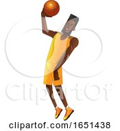 Basketball Player In A Yellow Jersey