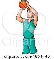 Basketball Player Is Ready To Throw The Ball