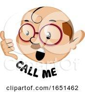 Nerdy Man Saying Call Me