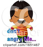 Hispanic Boy Saying Dont Angry Me by Morphart Creations
