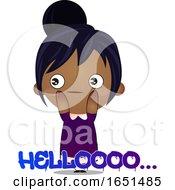 Indian Girl Saying Hello