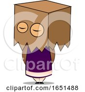 Girl With A Box Over Her Head