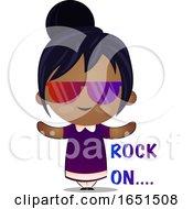 Indian Girl Saying Rock On