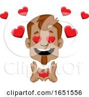 Poster, Art Print Of Man In Love