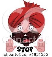 Man Wearing A Turban Saying Stop by Morphart Creations