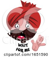 Man Wearing A Turban Saying Wait For Me by Morphart Creations