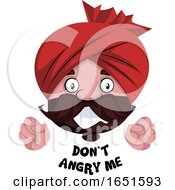Man Wearing A Turban Saying Dont Angry Me by Morphart Creations