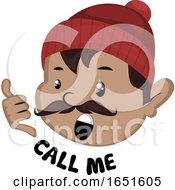 Man Saying Call Me