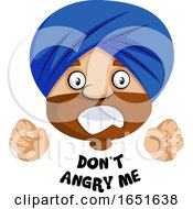 Muslim Guy Saying Dont Angry Me by Morphart Creations