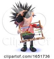 Punk Rocker Kid In 3d Holding An Abacus