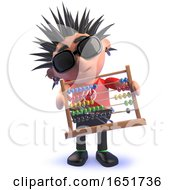 Punk Rocker Kid In 3d Holding An Abacus by Steve Young