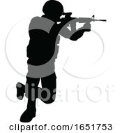 Silhouette Soldier
