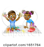 Two Children Playing