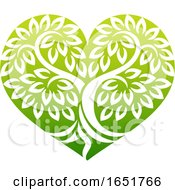 Tree Heart Shaped Icon Concept
