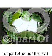 Frame With Tropical Foliage