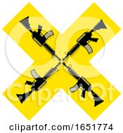 Yellow Cross With Guns