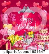Poster, Art Print Of Happy Wedding Design