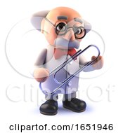 Mad Scientist Character Holding A Paperclip In Cartoon 3d by Steve Young