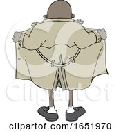 Cartoon Flasher Man From Behind