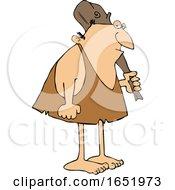 Cartoon Neanderthal With A Club