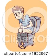 Boy Symptom Diarrhea Illustration