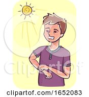 Man Photosensitivity Illustration