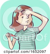 Woman Symptom Fever Illustration