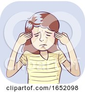 Woman Symptom Headache Illustration