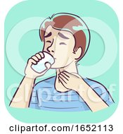 Man Dysphagia Illustration