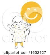 Poster, Art Print Of Kid Girl Remind Smile Illustration