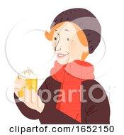 Senior Woman German Eggnog Illustration