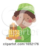 Kid Boy Kwanzaa Zawadi Gift Illustration