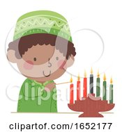 Kid Boy Kwanzaa Mishumaa Saba Seven Candles