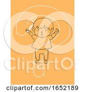 Kid Boy Draw Question Mark Curiosity Illustration