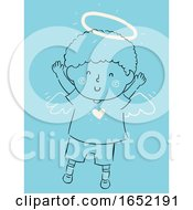 Kid Boy Little Angel Illustration