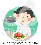 Kid Boy Top Chef Illustration