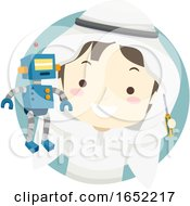 Kid Boy Qatari Robotics Mechanical Gear