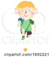 Kid Boy Sweden Ball Illustration