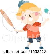 Kid Boy Sweden Brannboll Illustration