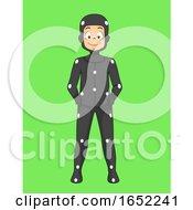 Kid Boy Green Screen Effect Illustration