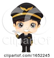 Kid Boy Airplane Pilot Illustration