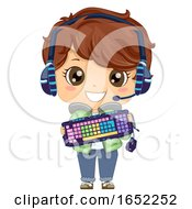 Kid Boy Online Gamer Gadgets Illustration