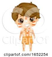 Kid Boy Australian Aboriginal Costume Illustration
