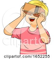 Kid Boy DIY Virtual Reality Glass Illustration