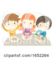 Kids Ginger Bread Man Decorating Illustration