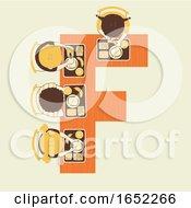 Poster, Art Print Of Kids Alphabet School Food Illustration