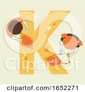 Poster, Art Print Of Kids Alphabet School Kite Making Illustration