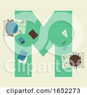 Kids Alphabet School Math Illustration